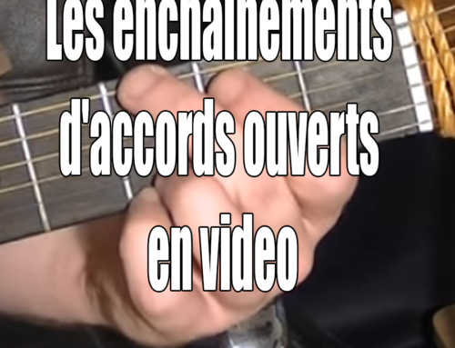Les enchainements d'accords ouverts en video